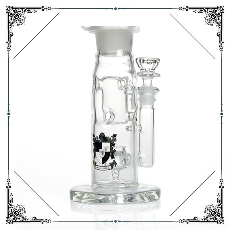 phoenix black & white straight fab Jet Perc Freezable Coil Tube bong glass water pipe build a Glycerin hookahs smoking heady