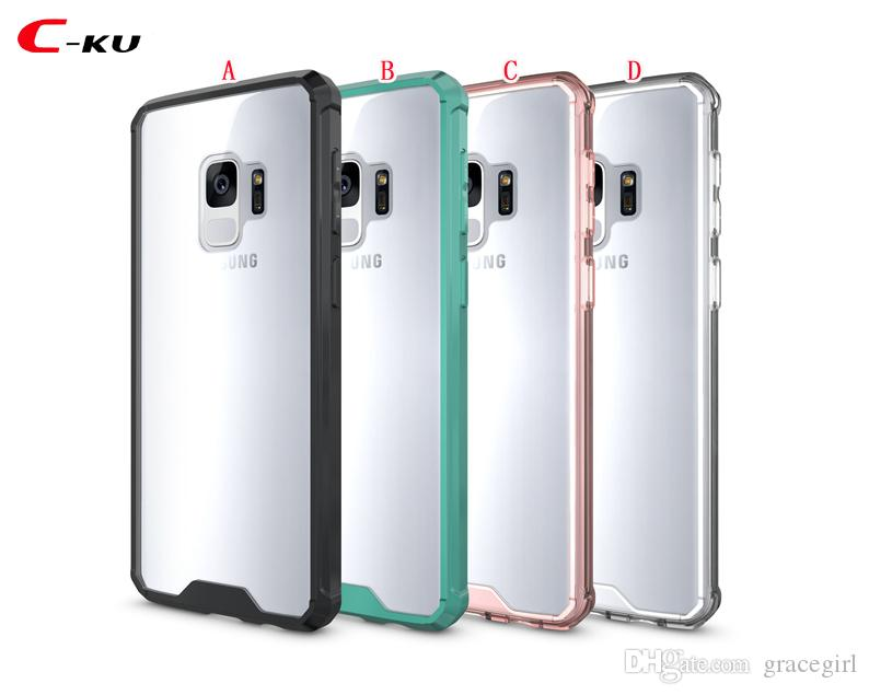 Armor Hybrid Soft TPU PC Case For Samsung Galaxy NOTE 9 NOTE9 S9 A8 Plus 2018 Bumper Transparent Clear Defender Cell Phone Skin Cover