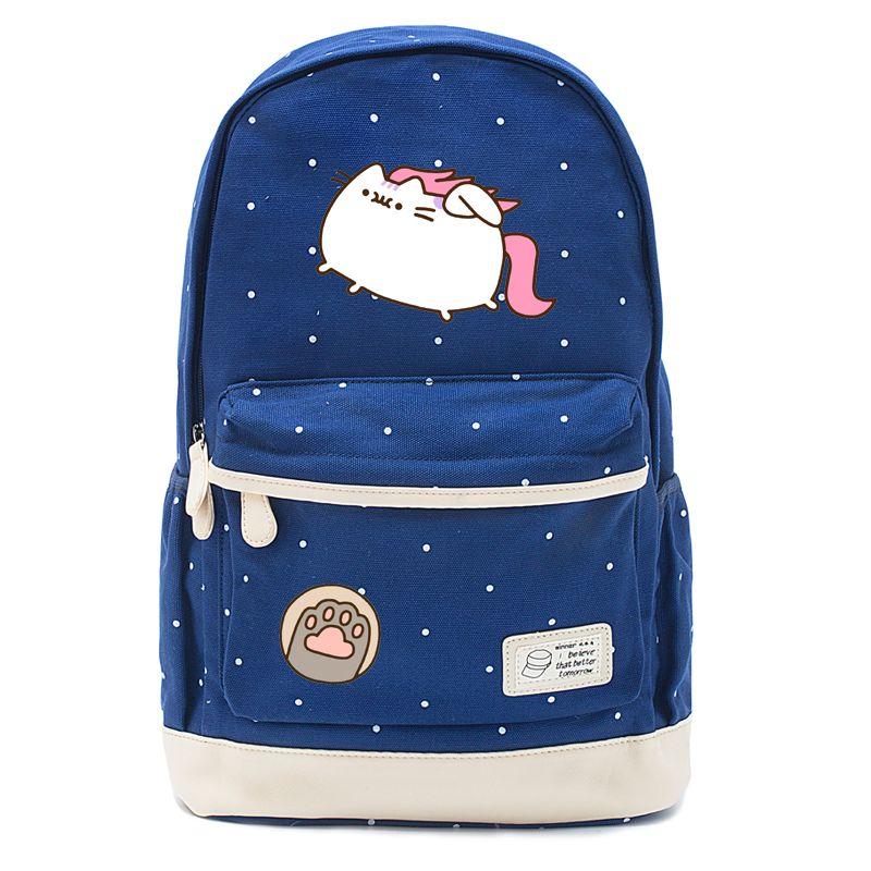 a2cbf2246c17 Fat Cat Cute Unicorn Backpack Schoolbag Casual Backpack Teenagers Girl  Student School Bags Travel Bag Mochilas Jansport School Backpacks From  Universe222