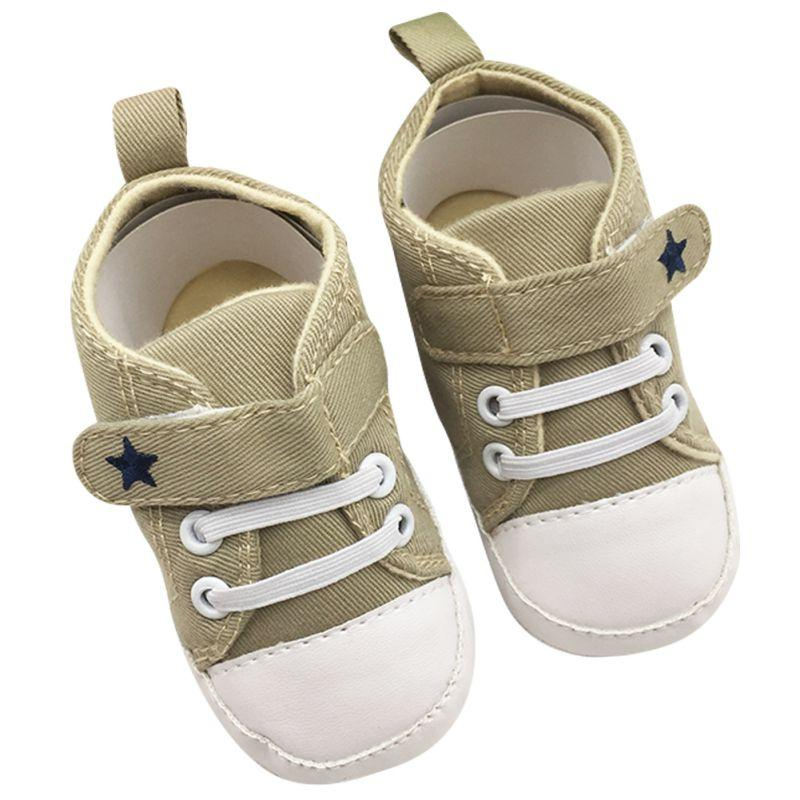 Infant Baby Boys Girls Shoes Soft Soled Cotton Crib Shoes Laces Prewalkers Baby Shoes New First Walkers Baby Shoes