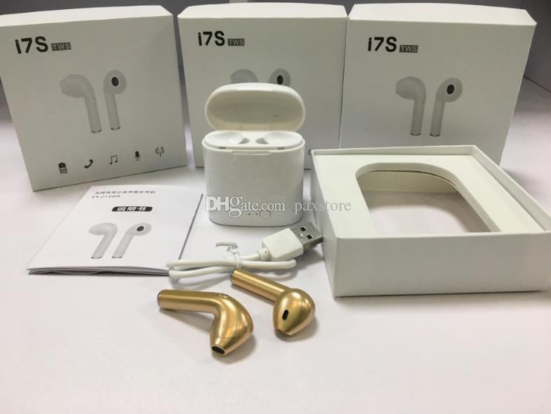 I7S TWS Casque Sans Fil Bluetooth Écouteurs Écouteurs avec chargeur Case Twins Mini Écouteurs Bluetooth pour iPhone Android avec la vente au détail