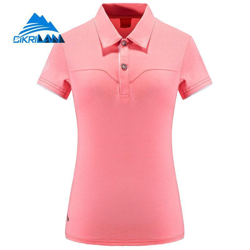 6554c648a 2019 New Summer Womens Outdoor Quick Dry Golf Polo Shirt Short Sleeve Sport  Camping Hiking T Shirt Women Climbing Running T Shirts From Comen, ...