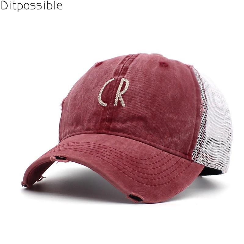 c4fff2e64bb Ditpossible Vintage Snapback Hat Women Summer Mesh Baseball Cap For Men  Letter Hat Cotton Cap Hat Beanies From Shanqingmou
