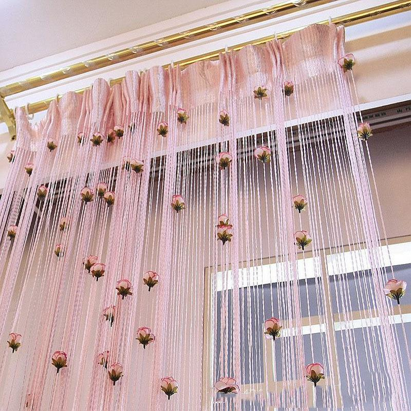 Kitchen Living Room Pass Through See Description: 2019 Tulip String Curtain For Living Room Door Curtains