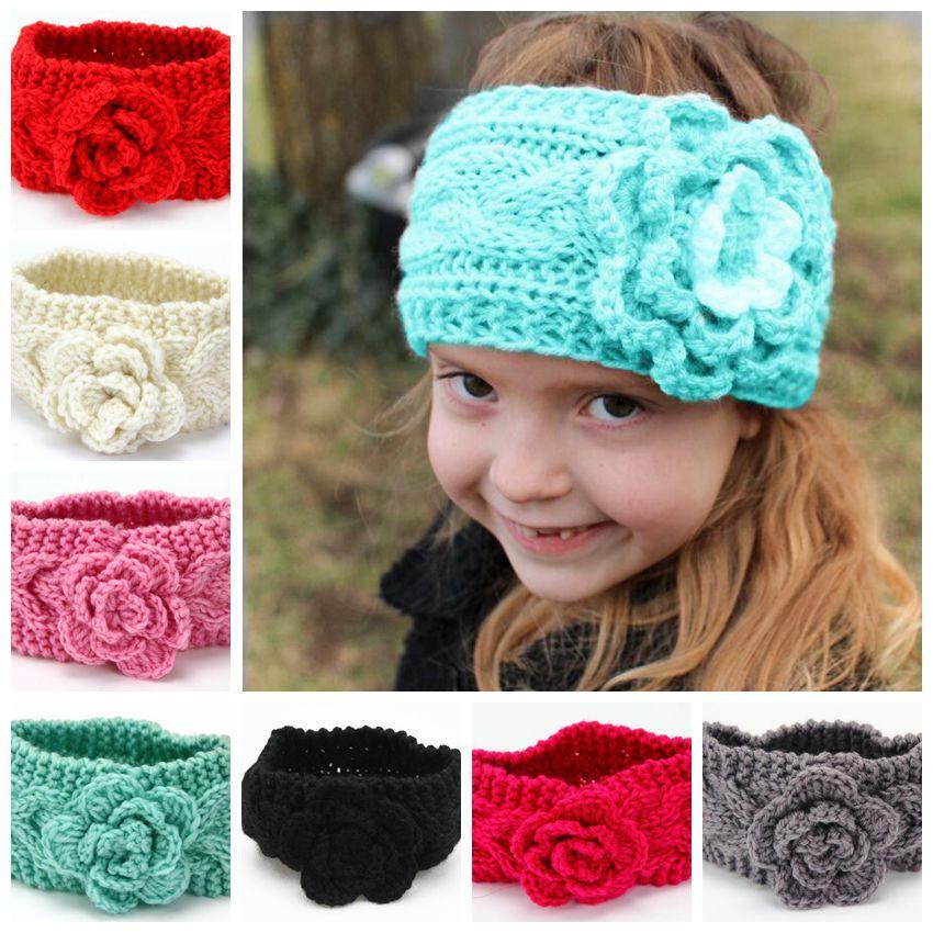 Großhandel 7 Farben Gestrickte Stirnband Mädchen Winter Stricken