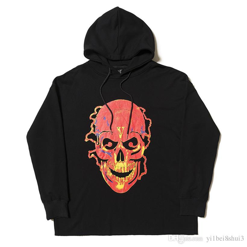 Compre Vlone Skull Hoodie Sudadera Hombres Mujeres Chaquetas Chándal Jersey Hip  Hop Streetwear Abrigo De Marca De Invierno De Harajuku Deporte Con Capucha  ... 85a1f70ec11