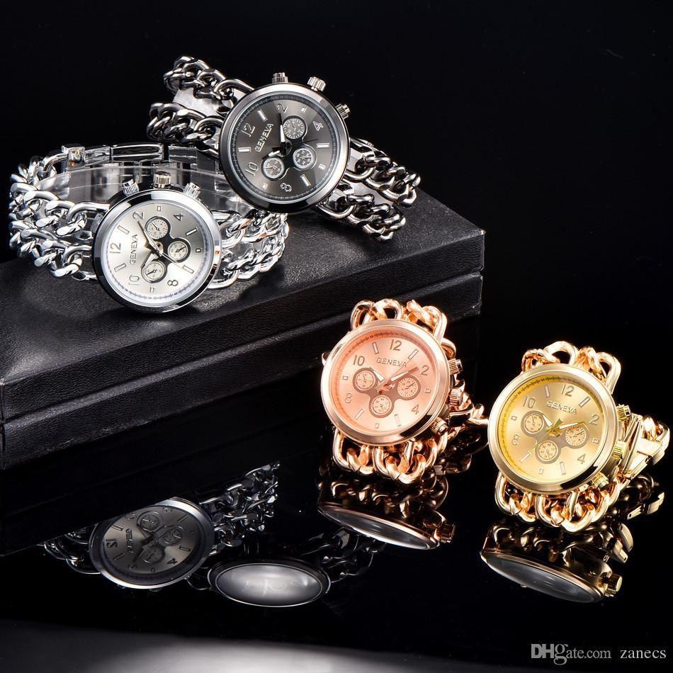 3cef659d329f Compre Cuarzo De Lujo Para Mujer Relojes Mujeres Elegante Pulsera Señoras Reloj  De Acero Inoxidable Reloj De Pulsera Reloj De Regalo Reloj Mujer Oro A  6.1  ...