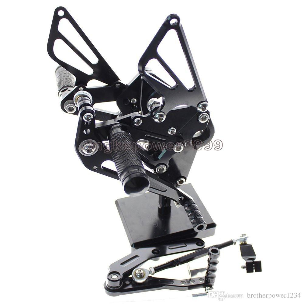 Motorcycle Rearset Foot Pegs Rear Set Footrests Fully Adjustable Foot Boards For Yamaha FZ-09 MT-09 2013-2017 XSR900 2016-2017