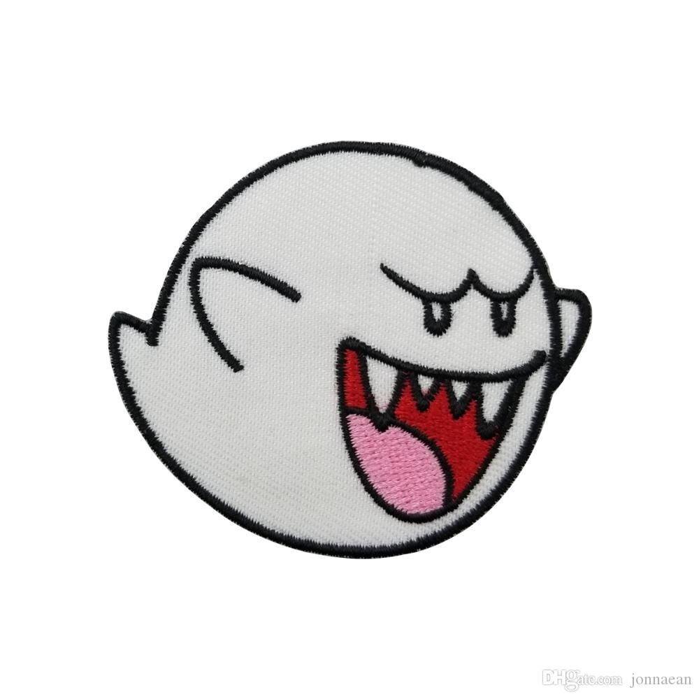 2019 New Arrival Ghost Boo Super Mario Game Embroidered Patch Iron
