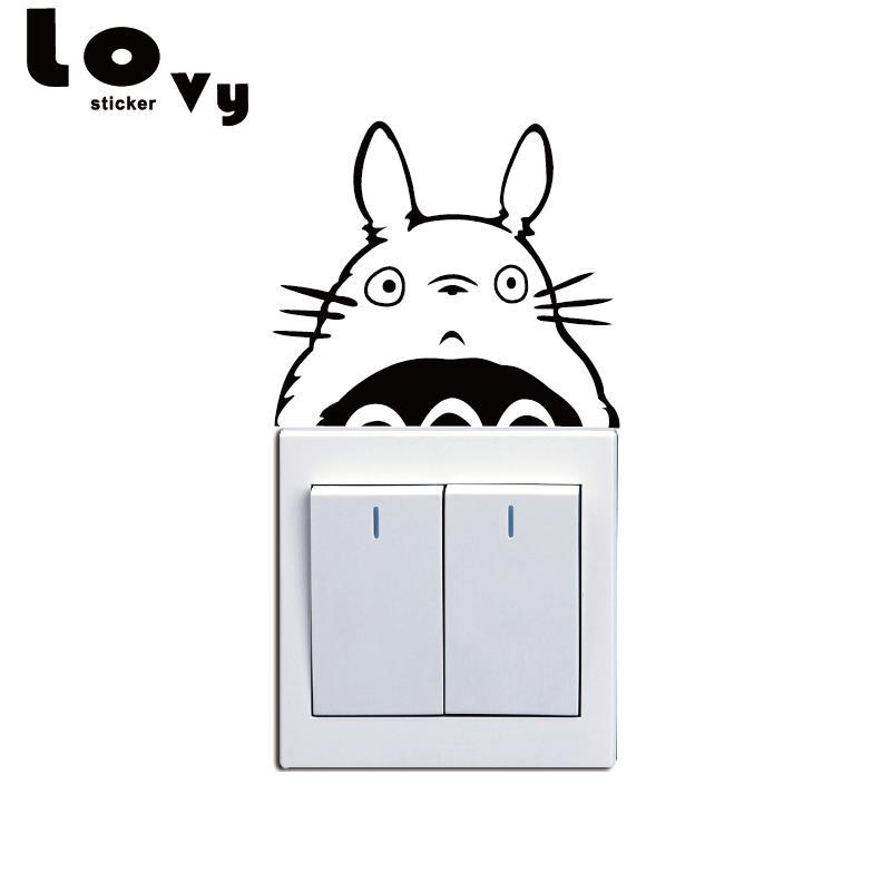Hayao Miyazaki Animation Totoro Series Vinyl Switch Sticker Cat Wall  Stickers For Kids Room Home Decor Wallpaper Stickers Wallpaper Stickers For  Bedrooms ...