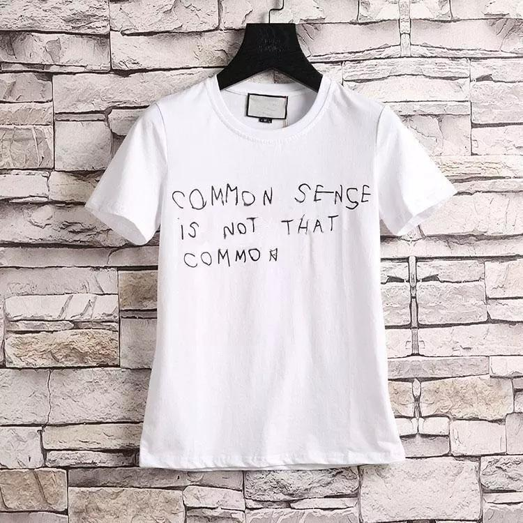 69a27947c0f 2018 Fashion Luxury Brand Tag Men T Shirt Designer Common Sense Spring  Summer Red Green Stripe Letter Print Tshirt Runway Tees Casual Top Latest T  Shirt ...