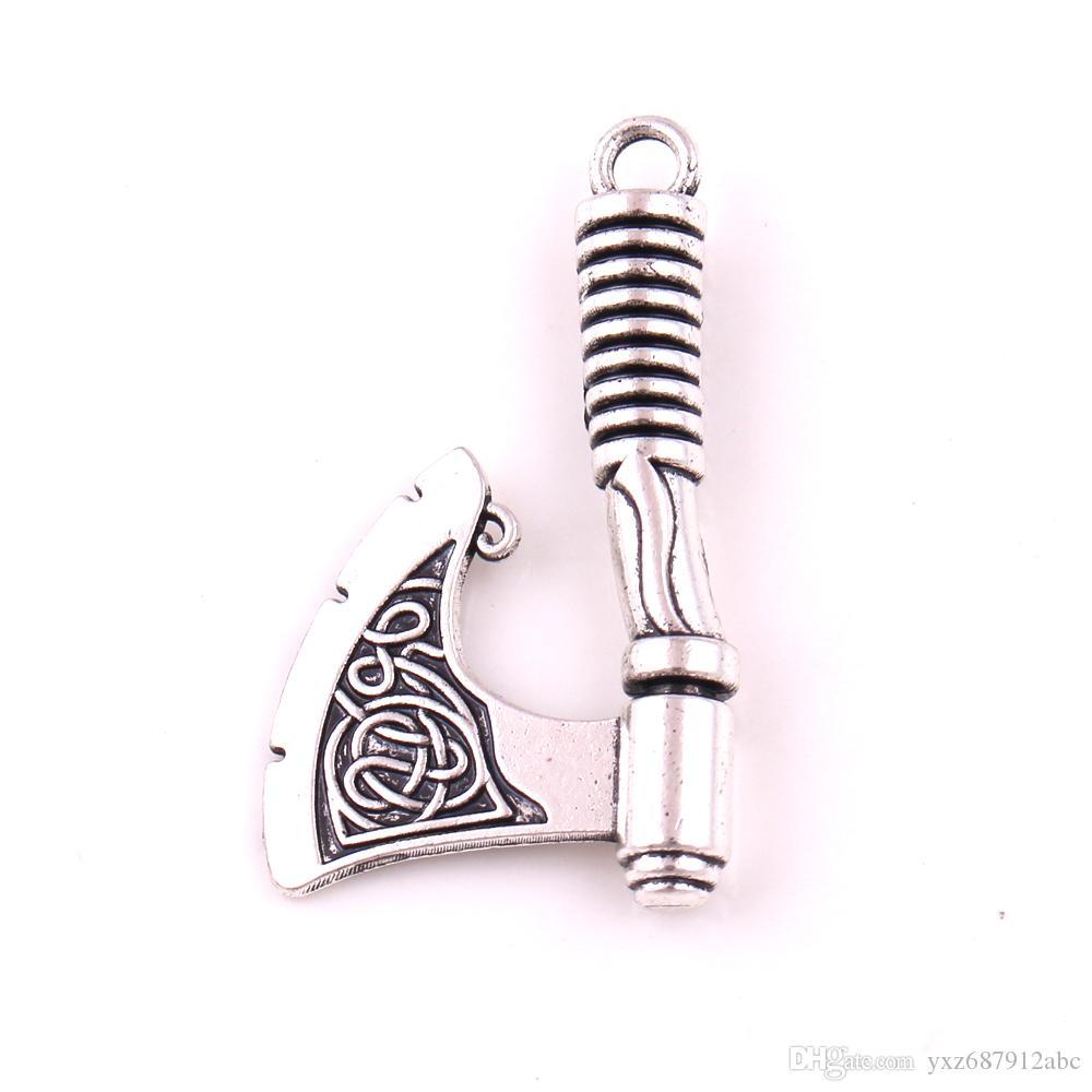 Drop Shipping Odin corbeau Slavic Sword Axe Pendentif Pendentif Pour Hommes Nordic Compass Norse Viking Amulette Talisman Bijoux