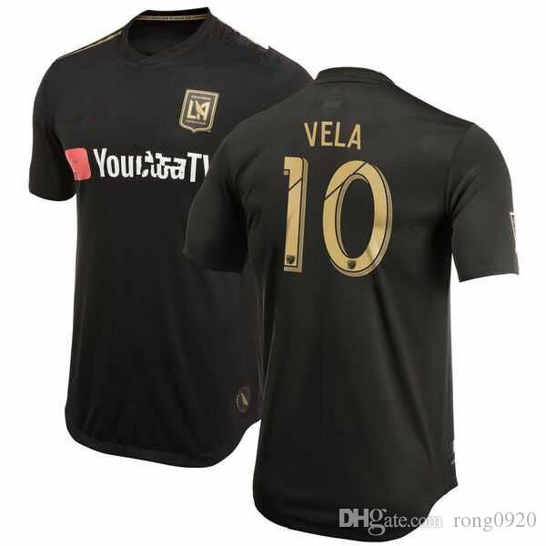 2019 NEW ARRIVED LAFC Soccer Jersey 18 19 Black With Patch  10 VELA Custom  Any Name Any Number Football Shirt From Rong0920 811f3461e