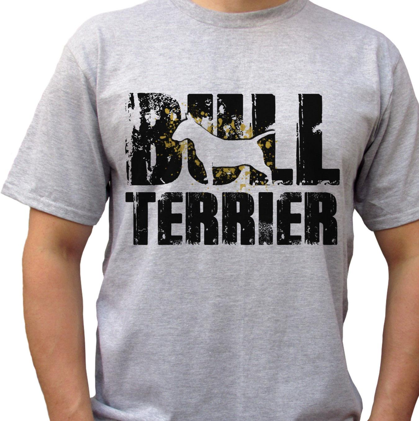 73f12506 Bull Terrier Logo Grey T Shirt Top Tee Dog Design Mens SizesFunny Unisex  Casual Top Design Your T Shirt Personalized T Shirt From  Afterlightclothing, ...