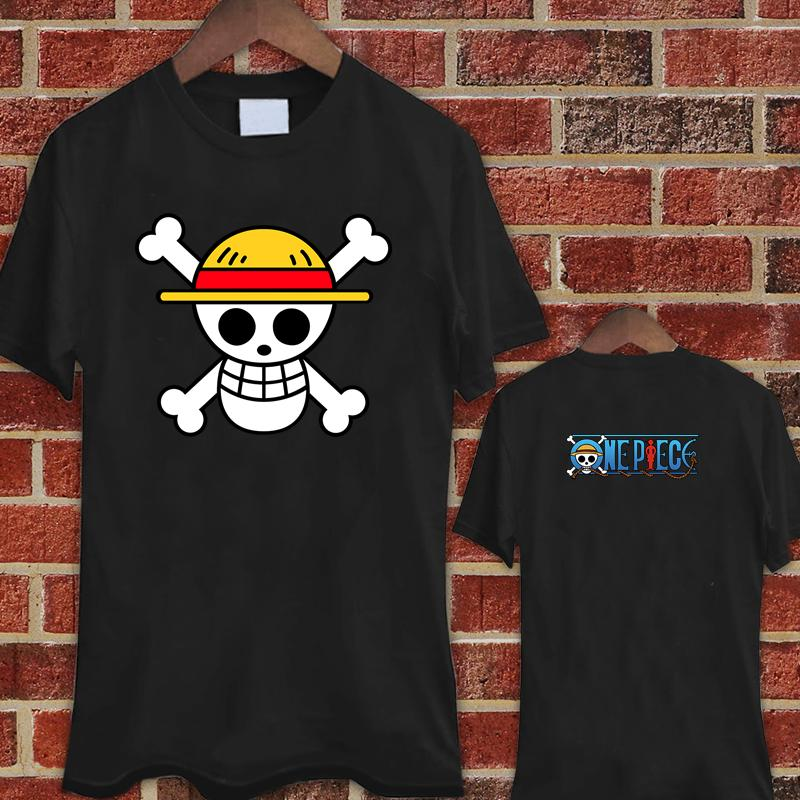 82d1f7f1 ONE PIECE Pirates Luffy Flag Logo Black T Shirt Shirts Tee XS 3XL T Shirts  Print Tees Online From Valuebuy, $11.01| DHgate.Com