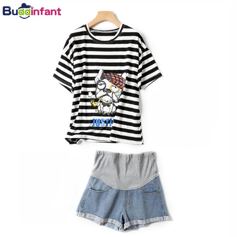 2019 Maternity Clothes For Pregnant Women Striped Plus Size T Shirt ...