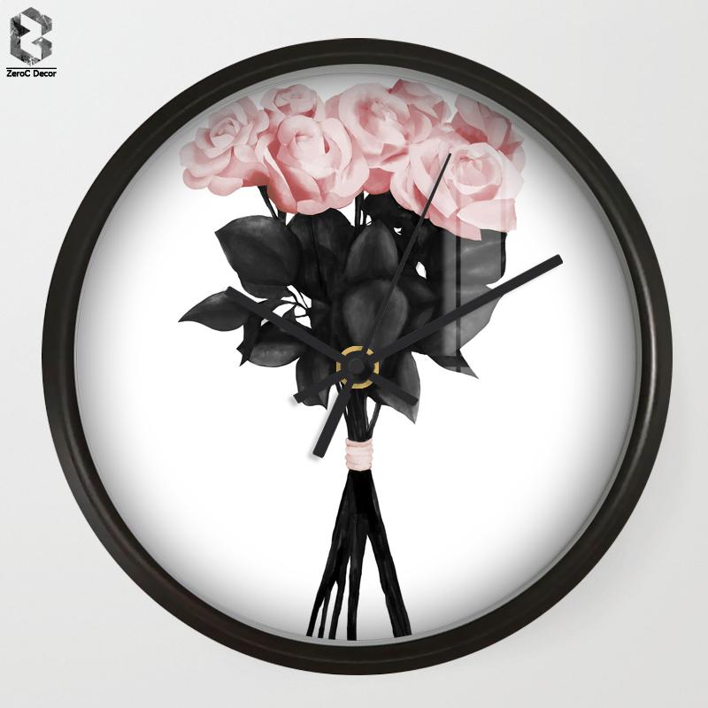 Chic Art Wall Clock Flower For Living Room Wall Decor, Table ...