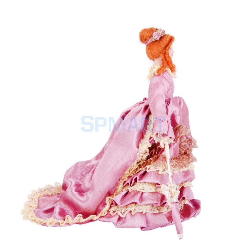 Compre Muñecas De Porcelana En Miniatura Dollhouse Dama Victoriana ...