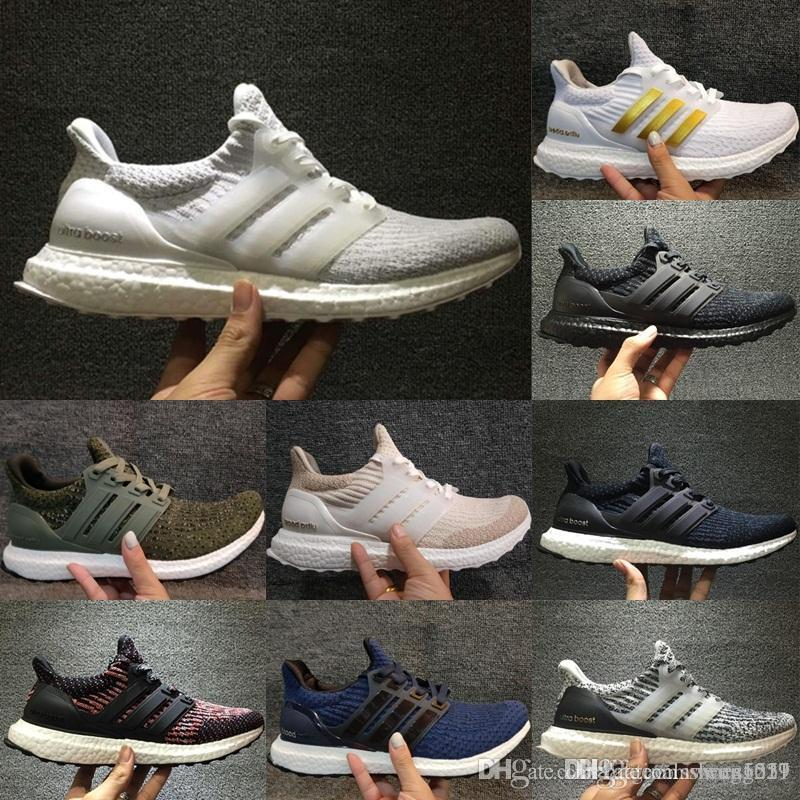 HOT UltraBoost 3.0 Triple Black White Men S Women S Running Sport Shoes  Ultra Boost 3.0 Shoes Breathable Sneaker Size Eur 36 47 Girl Sports Shoes  White Kids ... 1bc2cb731a