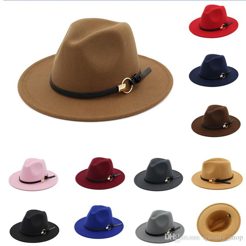 05483d0c7f2 2019 Men S Fedora Hat For Gentleman Wide Brim Jazz Church Cap Band Wide  Flat Brim Hats Stylish Trilby Panama Outdoor Hats From Qwonly shop