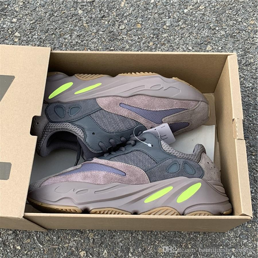 size 40 a41e7 d2302 Free Shipping Kanye West Wave Runner 700 Mauve Sneakers Mens Womens 2018  New700 Mauve Running Shoes Come With Box