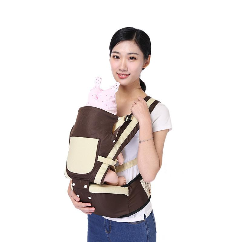 Safe Ergonomic Carrier Backpack Hipseat para recién nacidos Prevenir O-type Piernas Sling Infant Sling Pouch Wrap Baby Canguro Baby Carrier