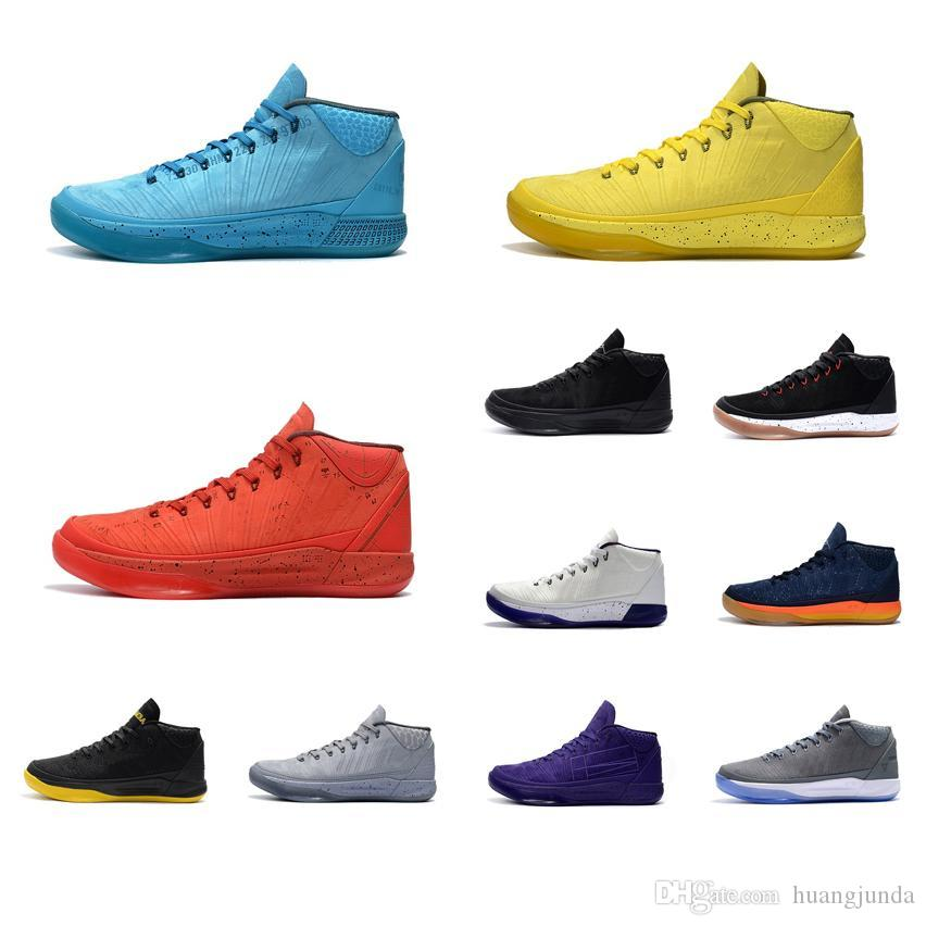 0b8a0e4c1b2e Cheap Cheap Mens Kobe AD Mid 12 Elite Basketball Shoes Black Mamba Gold  Rainbow PK80 3D Rise Shine KB XII Sneakers Boots Tennis for Sale with Box