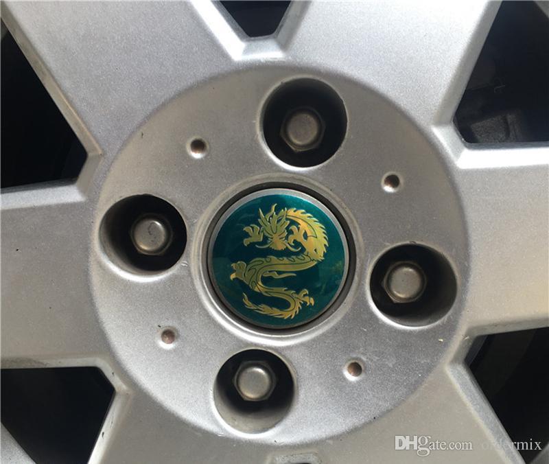 / Cool dragon Car Steering tire Wheel Center car sticker Hub Cap Emblem Badge Decals For Honda VW Audi BMW Car styling