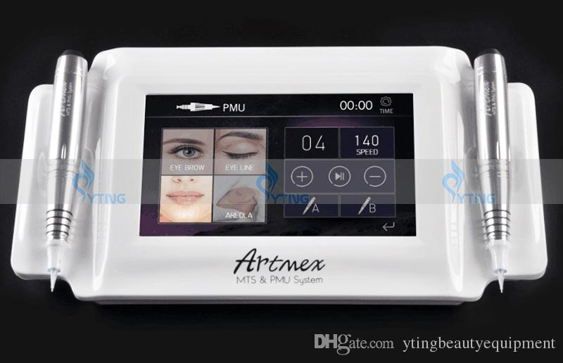 2in1 Digital Permanent Makeup Tattoo Machine Artmex V8 Touch Screen eyebrow lipo tattoo equipment pen With Two Handles 2018
