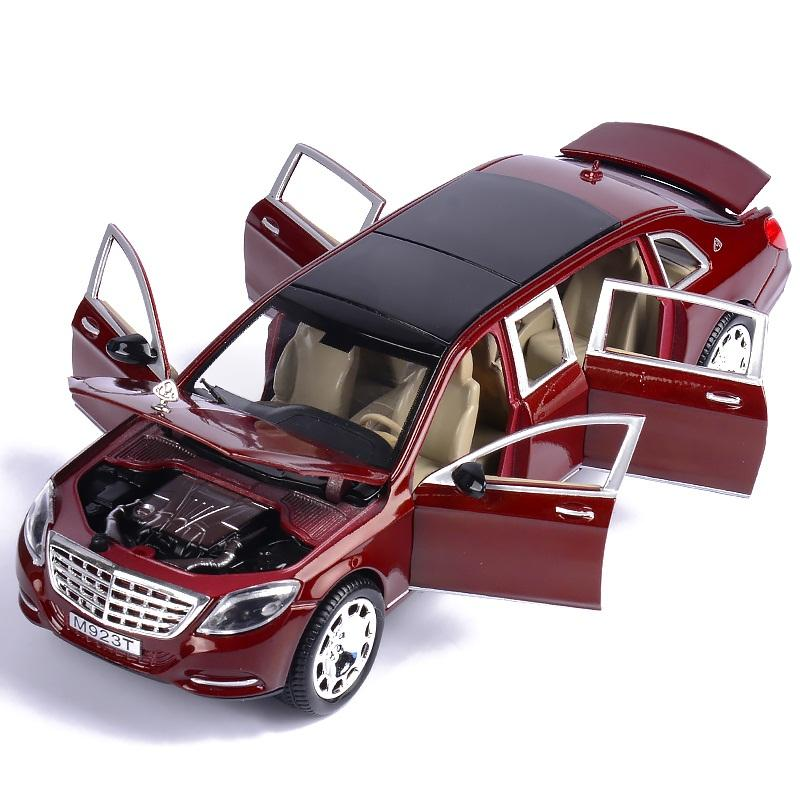 2019 1 24 Alloy Car Model 6 Doors Open 22cm Diecasts Vehicles Luxury