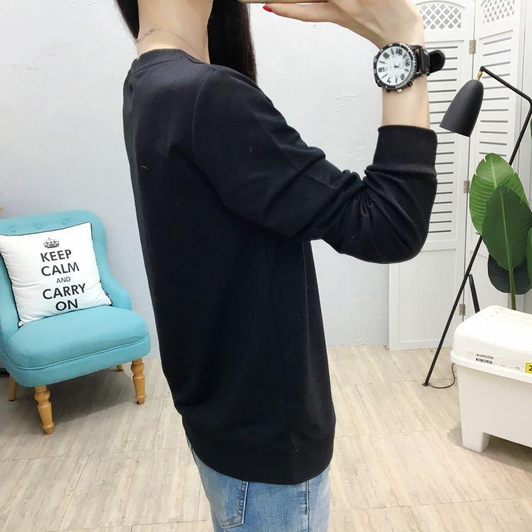 2018 женщин футболка повседневная хлопок эластичный Basic T рубашка осень топы для женщин плюс размер футболка с длинным рукавом
