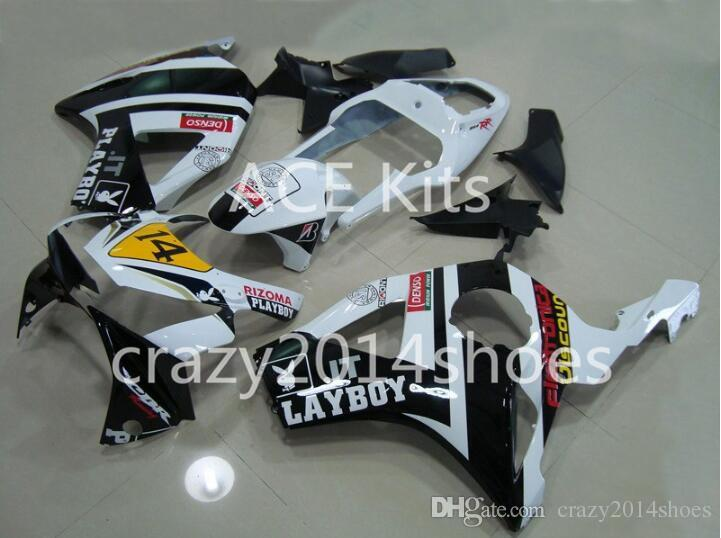 Kit carenatura moto HONDA CBR900RR 954 02 03 CBR 900RR 2002 2003 CBR900 ABS caldo Bianco nero Carenature + 3 ingranaggi H1