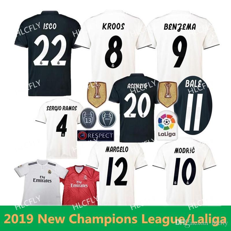 929b247b3 2018 2019 Madrid Jersey Benzema ASENSIO Football Soccer Modric Kroos ...