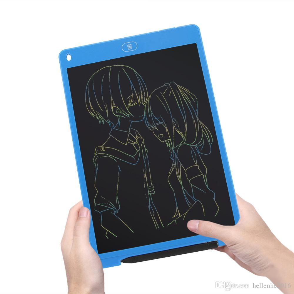 Portable LCD colorato Tablet Tablet Pad Disegno Notepad Grafica elettronica Digital Handwriting Board E-Writing con penna stilo