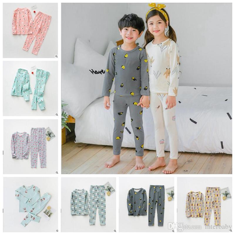 556e5275f 2019 Kids Pajamas Set Children Autumn Cotton Sleepwear Girls ...