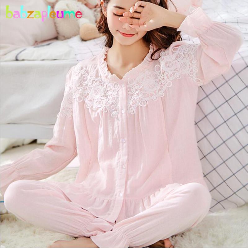 121bf3c85 Compre 2 Piezas Primavera Verano Embarazo Lactancia Ropa De Dormir Tops De  Algodón + Pantalones Pijamas De Maternidad Conjunto De Ropa De Mujer BC1807  1 A ...