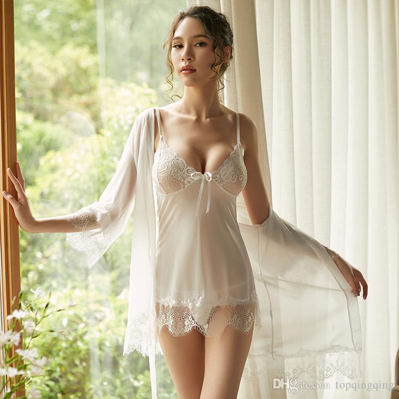 e4237f031 18051 Elegant Top Selling Sexy Lingerie Sleepwear Women s G-string Dress  Underwear Babydoll Nightwear Charming Black And White Dress Pajamas