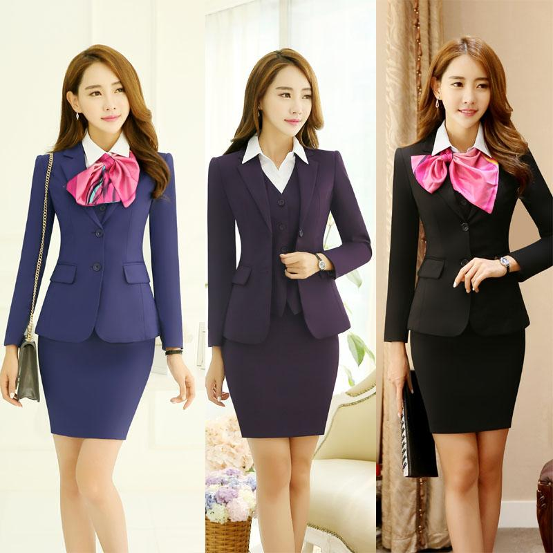 2018 New Spring Autumn Professional Ladies Office Formal Work Wear