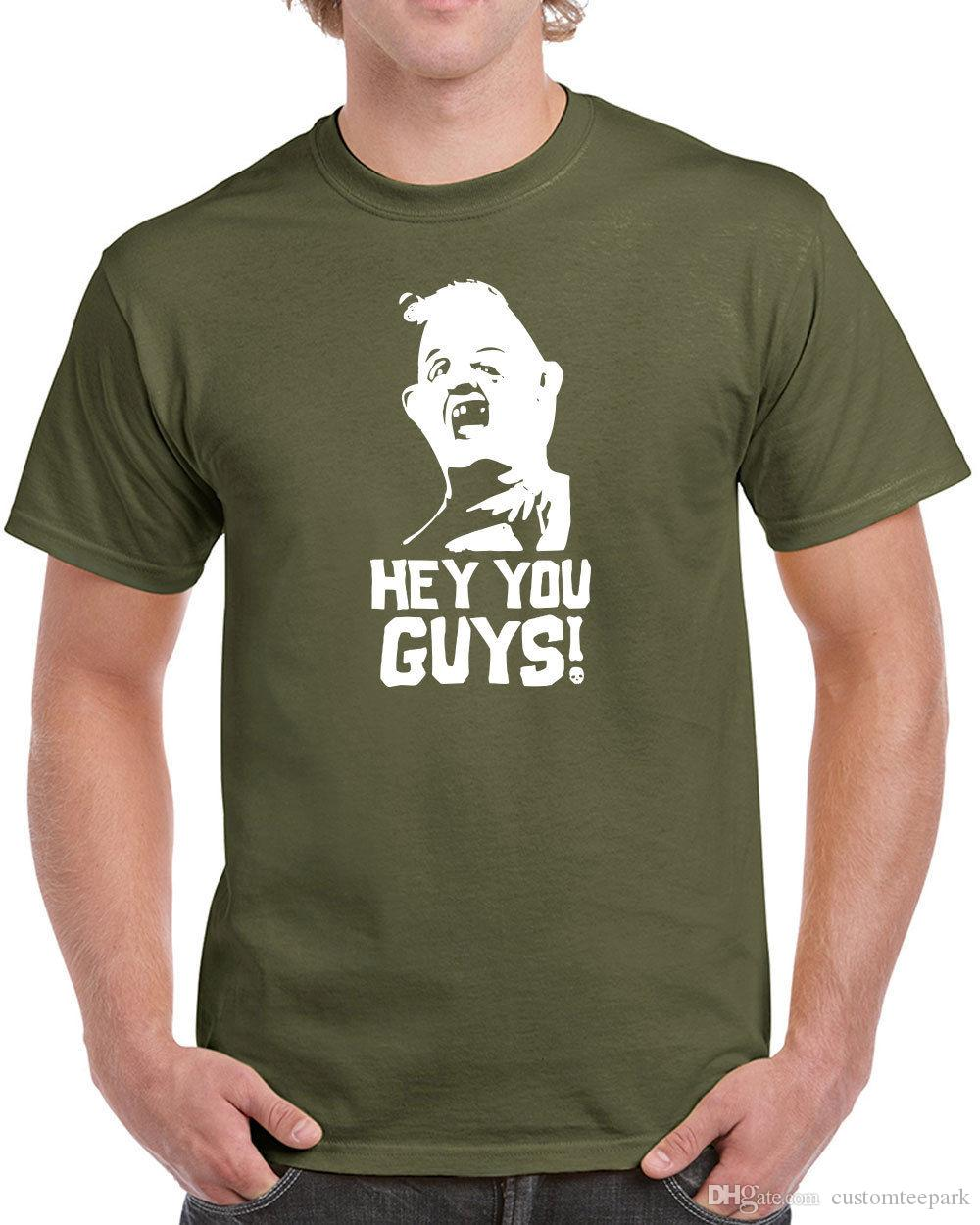 48957fb05 233 Hey You Guys Mens T-Shirt Sloth 80S Movie Goonies Chunk New Funny Vintage  T Shirt Men Male Crazy Custom Short Sleeve Boyfriend's Big Siz