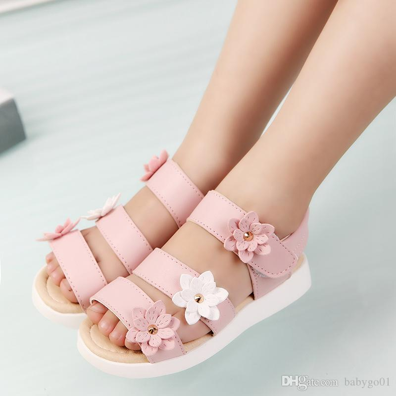 5aeb023179363 Summer Style Children Sandals Girls Princess Beautiful Flower Shoes Kids  Flat Sandals Baby Girls Roman Shoes Shoes For Toddlers Boys Youth Shoes  From ...