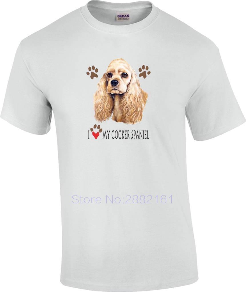 0c2f8d11a56d I Love My Cocker Spaniel Dog T Shirt T Shirts Men Casual Humorous Tee Shirts  Design And Order T Shirts From Liguo0021, $15.53| DHgate.Com