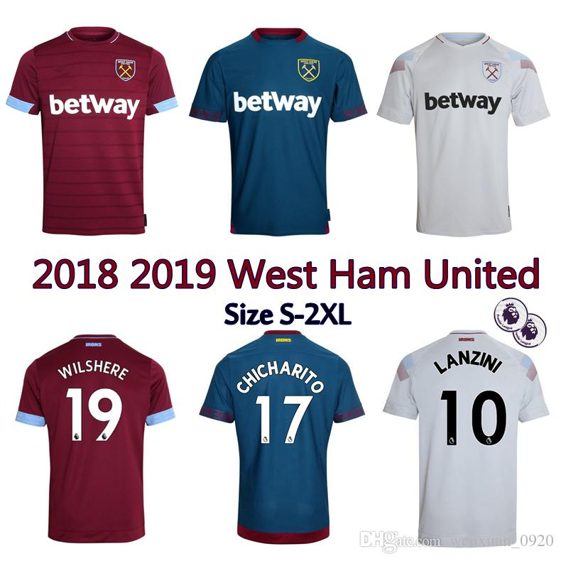 2019 2018 2019 West Ham United Jersey 18 19 West Hummer Home Away 3rd  Arnautovic CHICHARITO LANZINI CARROLL WILSHERE Football Shirts From  Wenxuan 0920 41e701b91