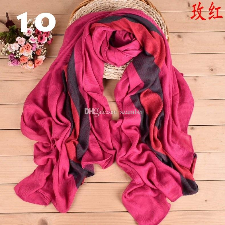 100% Cotton and linen Classic Vertical stripes Pashmina and Scarves Dual-use Neck Gaiter Women Scarf Wraps 13 Colours 95*190cm