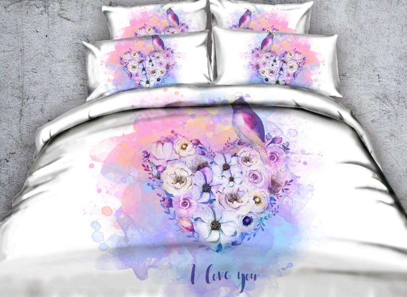 Acheter Ensemble De Literie Love 3d Sheets Bird Comforter Definit