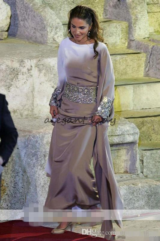 Abiti da sera lunghi in argento musulmano con perline a balze Jalabiya Abito da donna arabo islamico Abaya marocchino Dubai Abiti da sera in kaftano