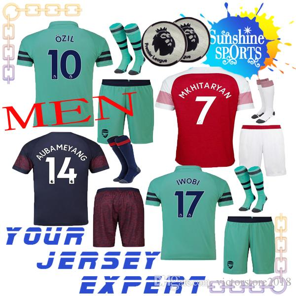 93fd978d8 2019 Arsenals OZIL Soccer Jersey 2019 LACAZETTE GIROUD Home Men SET 18 19  XHAKA 2018 Shorts Socks Adult MKHITARYAN Football Shiirts VISIT KIT From ...