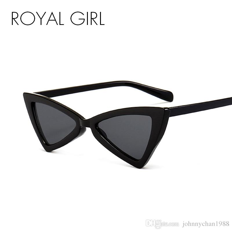 0e40b2df1a676 ROYAL GIRL Black Triangle Sunglasses Women 2018 Sexy Men Small Cheap Cat Eye  Sun Glasses Vintage Shades Oculos UV400 Ss349 Glasses Online Polarized ...