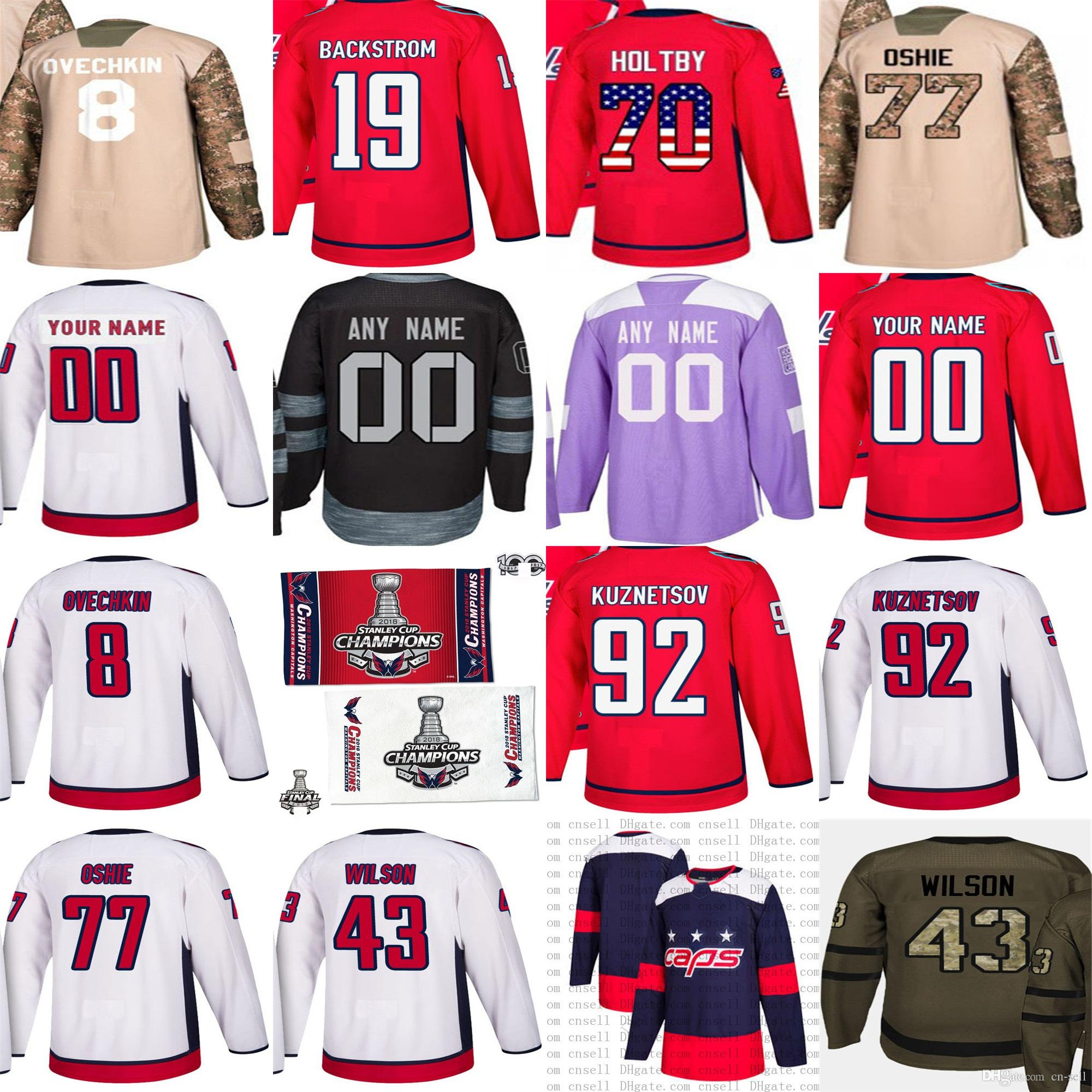 cc7896ff4 2019 Mens Youth 2018 Stanley Cup Final Champion Patch Custom 100th Hockey  Jerseys Washington Capitals Oshie 8 Alex Ovechkin Nicklas Backstrom From Cn  Sell