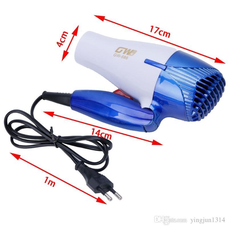 Sıcak Satış Taşınabilir Mini Katlanabilir 1200 W Saç Darbe Kurutma Seyahat Saç Kurutma Kompakt Blower ücretsiz kargo