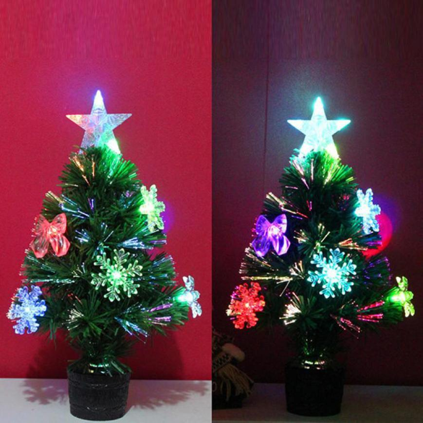 artificial christmas tree led multicolor lights holiday window decorations 45cm12cm11cm xmas decoration sale xmas decorations from aozhouqie